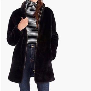 J crew zip up plush fleece jacket